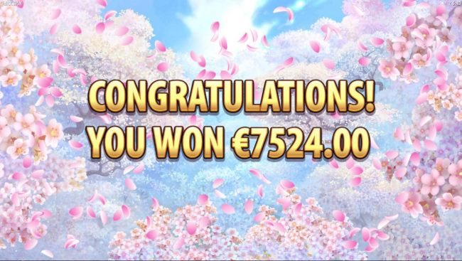 Free Spins feature play awards a total of 7524.00