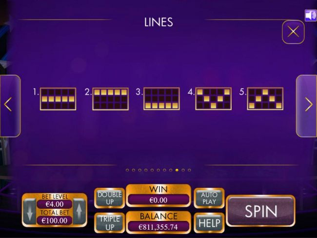 Payline Diagrams 1-5