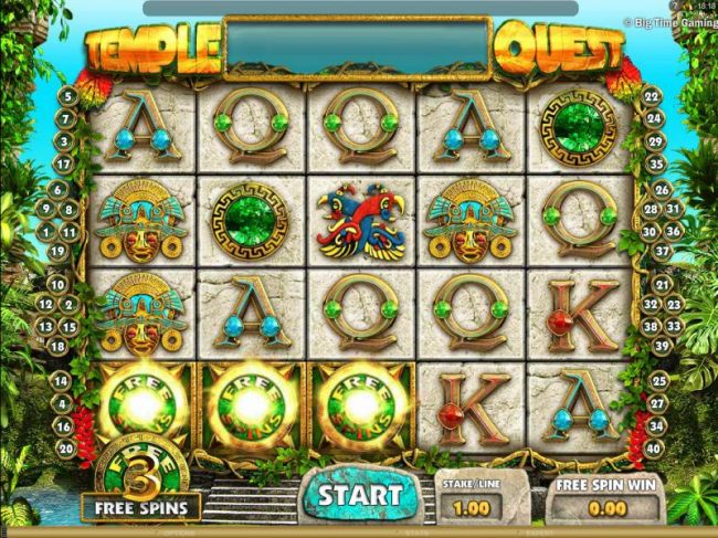 three free spins icons triggers the free spins feature