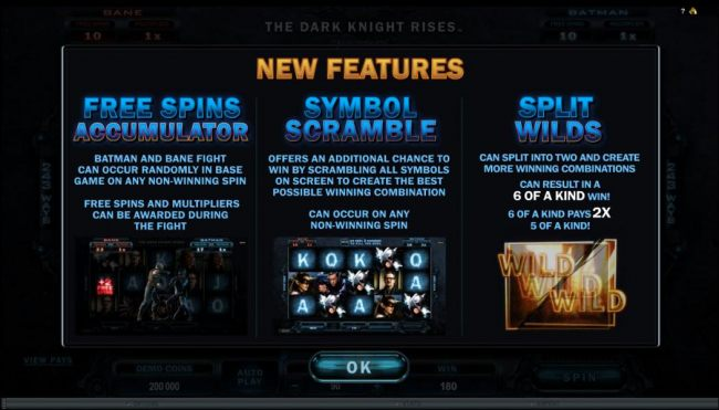 New Features - Free Spins Accumulator, Symbol Scarmble and Spilt Wilds