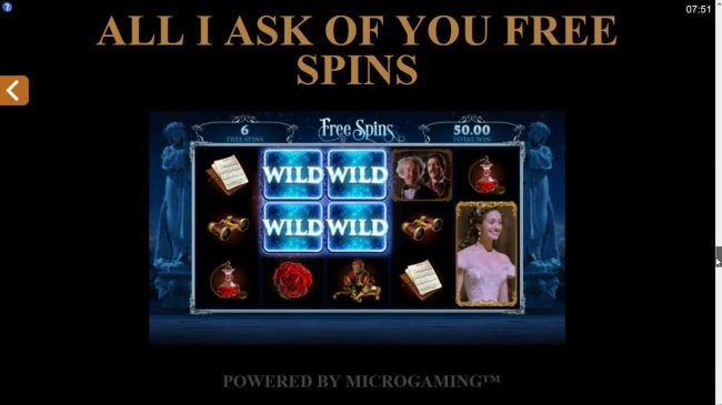 All I Ask of You Free Spins
