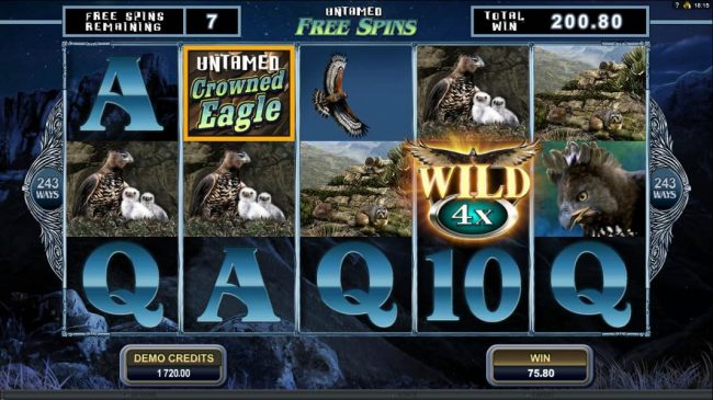 Soaring Wild symbol triggers a 4x payout