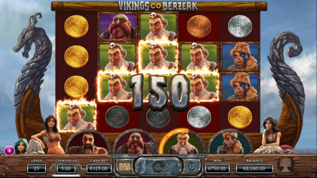 Multiple winning paylines triggers a big win amd increases the Rage meter.