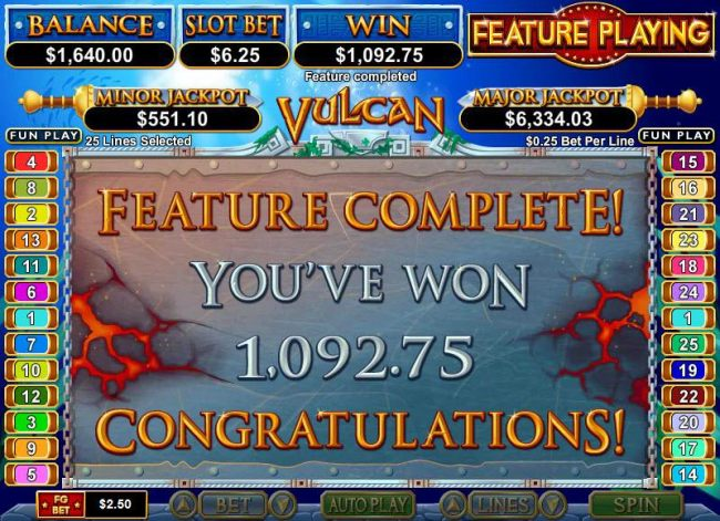 free spins feature pays out $1092 big win