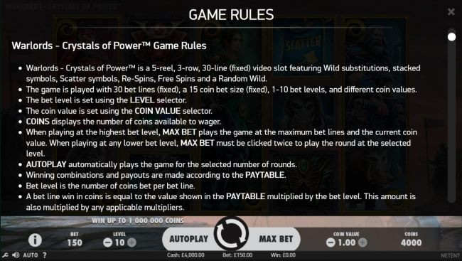 General Game Rules