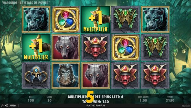 Earn extra free spins for every scatter symbols that lands on the reels during the Free Spins feature.