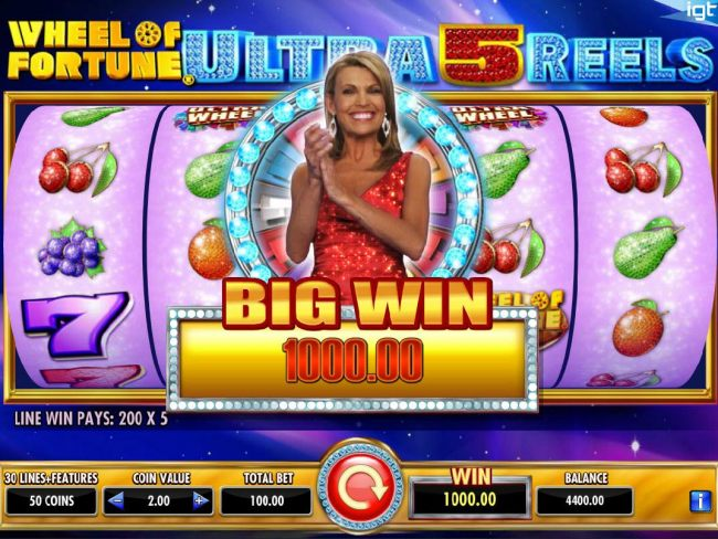 A 1000.00 big win paid out.
