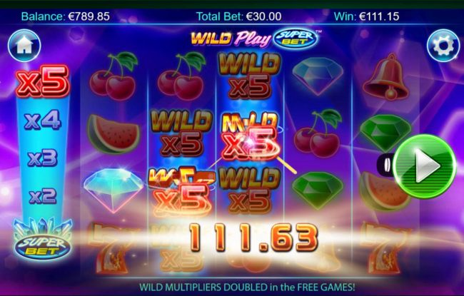 Wild multipliers triggers a big win during the free spins feature.