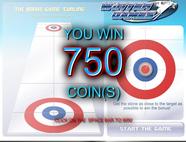Get the stone as close to the center as possible. Bonus feature pays out a total of 750 coins.